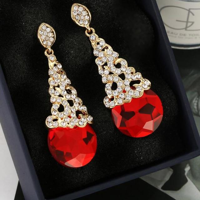 """Sissy Lucie"" Crystal Clip On Earrings Sissy Panty Shop red"