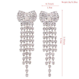Crystal Bow Clip On Earrings Sissy Panty Shop