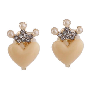 """Tranny Brenda"" Heart Crown Clip On Earrings Sissy Panty Shop"
