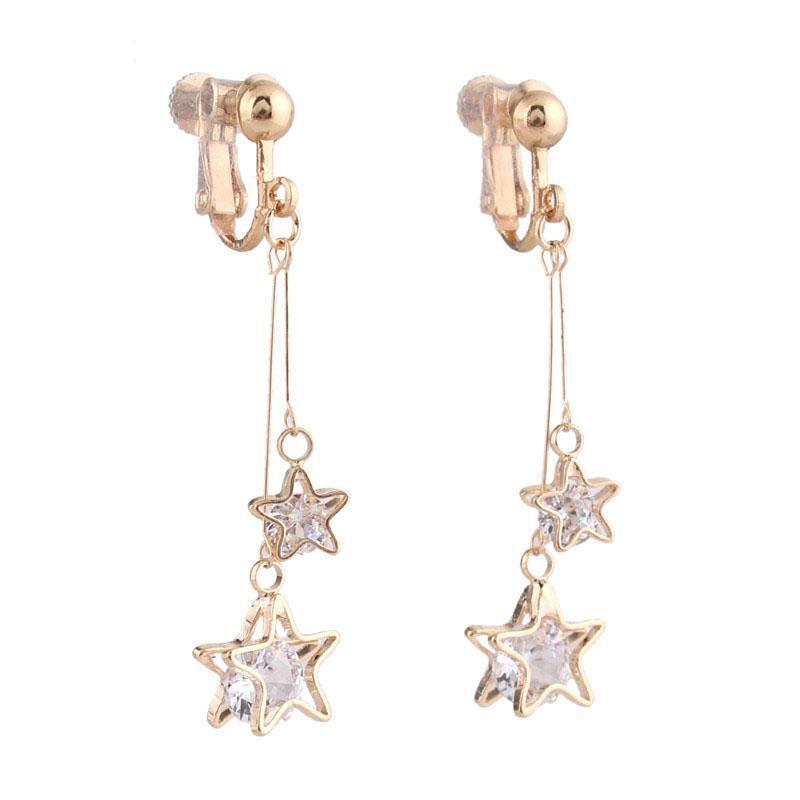 """Sissy Andy"" Star Dangle Clip On Earrings Sissy Panty Shop"