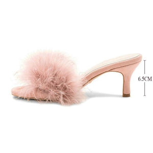 """Sissy Monica"" Fur Slippers Sissy Panty Shop Pink 7"