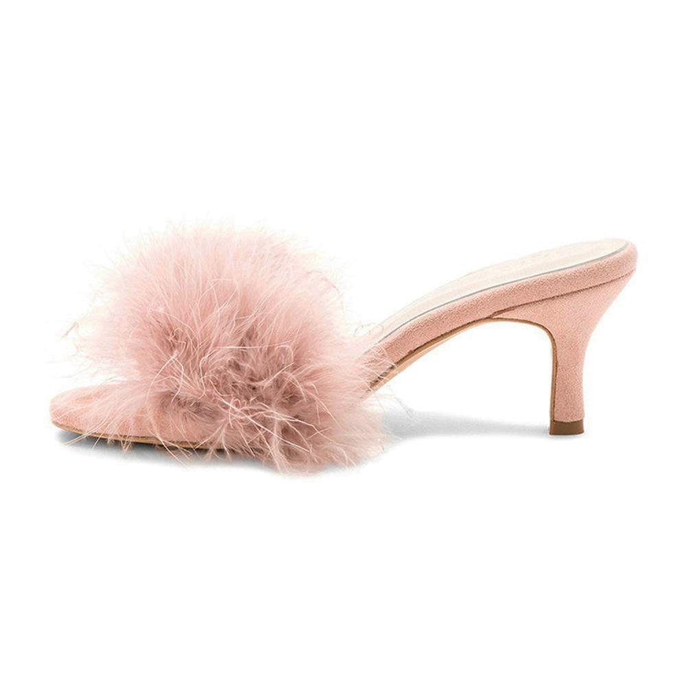 """Sissy Monica"" Fur Slippers Sissy Panty Shop"