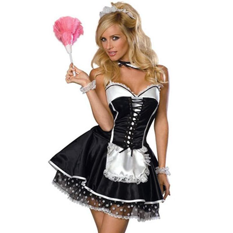 French Maid Costume Sissy Panty Shop