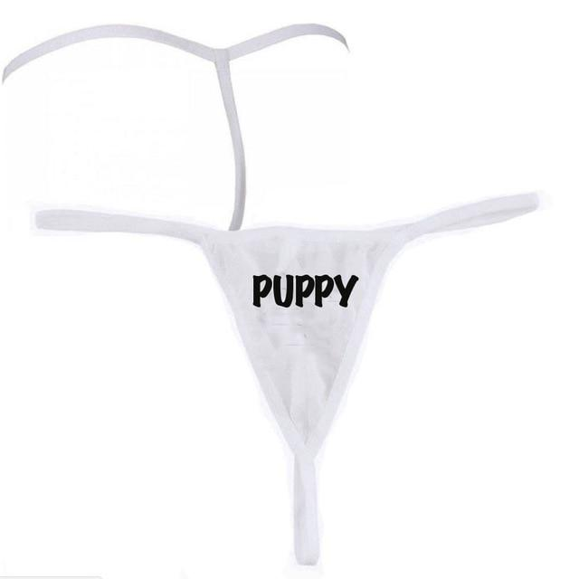 Cute Sissy Playful Thong Sissy Panty Shop PUPPY One Size