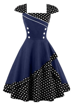 """Sissy Amiyah"" Pink Dotted Dress Sissy Panty Shop navy blue S"