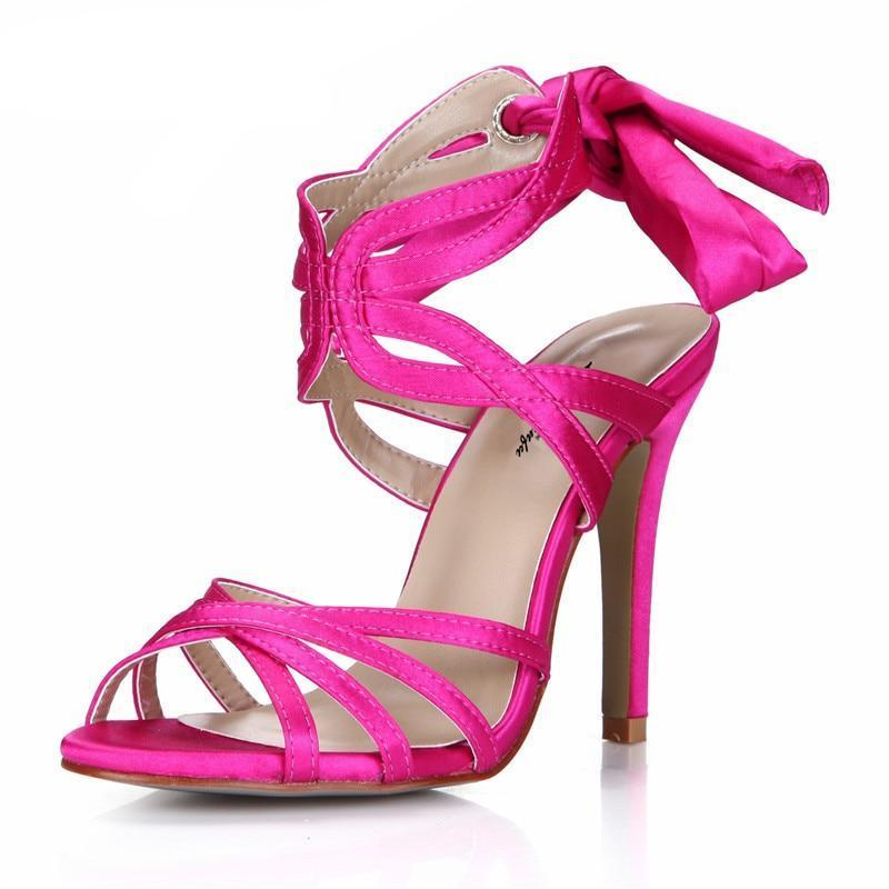 """Sissy Blanche"" Satin Sandals"