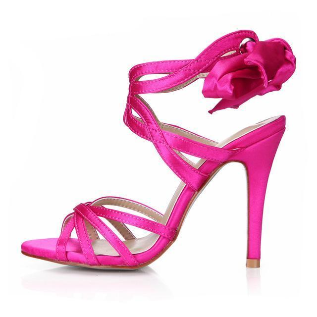 """Sissy Blanche"" Satin Sandals Sissy Panty Shop Sissy Pink 7"