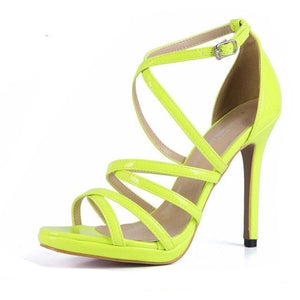 """Sissy Eleanor"" Sandals Sissy Panty Shop YELLOW 7"