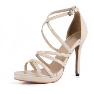 """Sissy Eleanor"" Sandals Sissy Panty Shop Khaki 7"