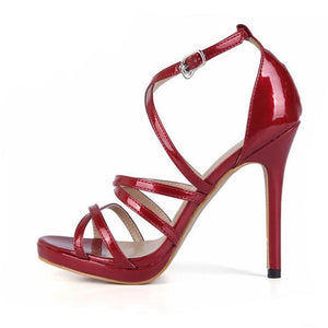 """Sissy Eleanor"" Sandals Sissy Panty Shop Wine Red 7"
