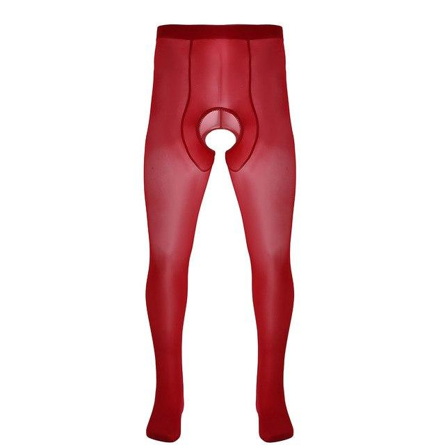 Crotchless Pantyhose Sissy Panty Shop Red