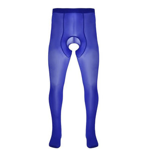 Crotchless Pantyhose Sissy Panty Shop Royal Blue