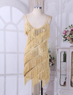"""Tranny Fatima"" Fringe Tassel Dress Sissy Panty Shop"