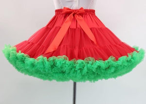 """Sissy Tanya"" Short Petticoat Sissy Panty Shop Red Green"
