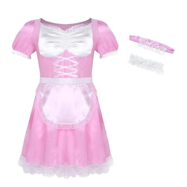 """Sissy Lola"" French Maid Uniform Sissy Panty Shop Pink M"