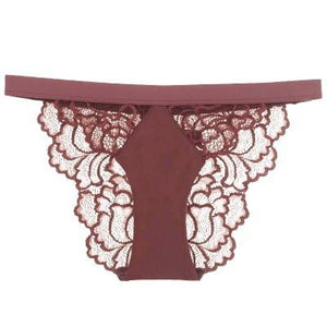 Sissy Lux Lace Panties Sissy Panty Shop Brown S