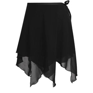 Asymmetric Ballet Tutu Skirt Sissy Panty Shop Black