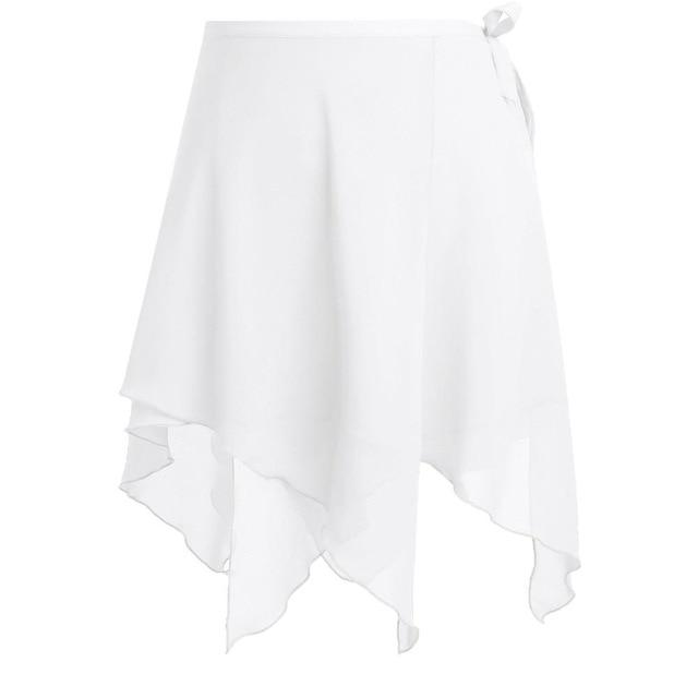 Asymmetric Ballet Tutu Skirt Sissy Panty Shop White