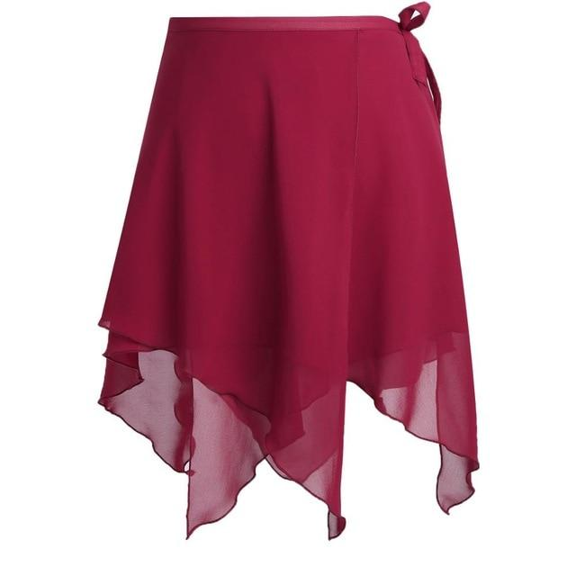 Asymmetric Ballet Tutu Skirt Sissy Panty Shop Wine Red
