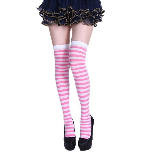 Striped School Girl Stockings Sissy Panty Shop 9 One Size
