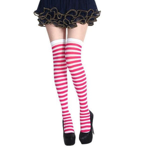 Striped School Girl Stockings Sissy Panty Shop 5 One Size