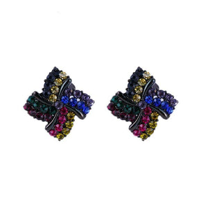 Colorful Rhinestone Clip On Earrings Sissy Panty Shop