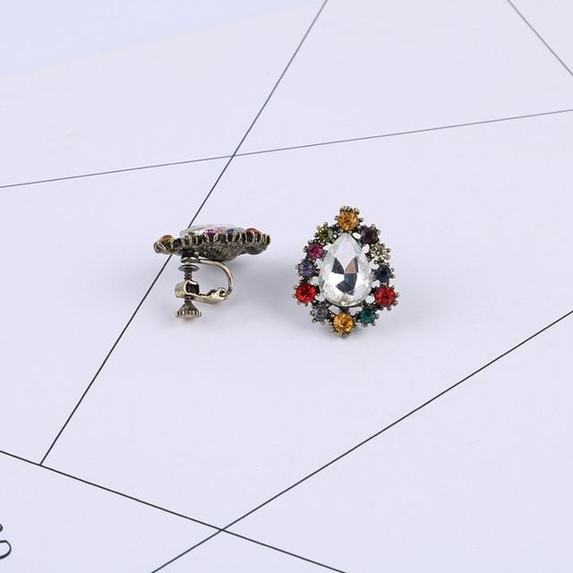 Colorful Rhinestone Clip On Earrings Sissy Panty Shop c