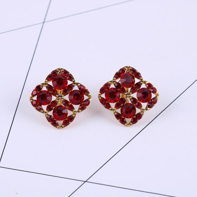 Colorful Rhinestone Clip On Earrings Sissy Panty Shop b