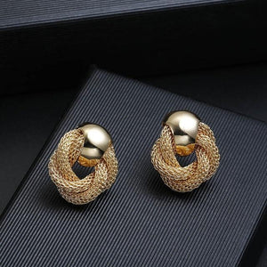 Mesh Chain Clip On Earrings Sissy Panty Shop gold