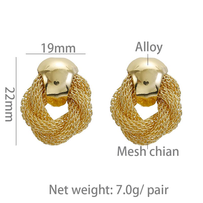 Mesh Chain Clip On Earrings Sissy Panty Shop