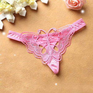 """Sissy Molly"" Butterfly Panties Sissy Panty Shop Pink One Size"