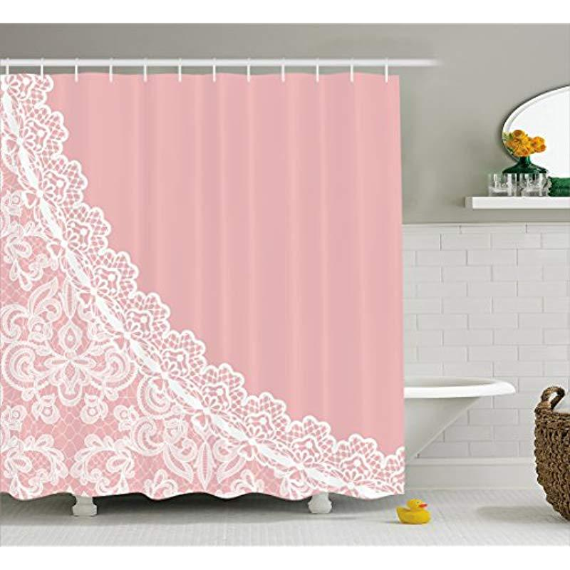 Feminine Lace Pink Shower Curtain Sissy Panty Shop