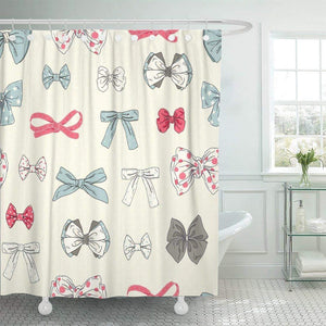 Sissy Ribbon & Bows Shower Curtain Sissy Panty Shop