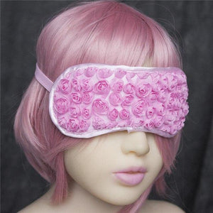 Flower Fetish Eye Mask Sissy Panty Shop Elastic Pink 1PC