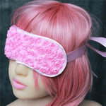Flower Fetish Eye Mask Sissy Panty Shop Satin Pink 1PC
