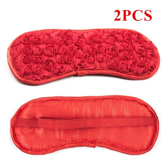 Flower Fetish Eye Mask Sissy Panty Shop Elastic Red 2PCS