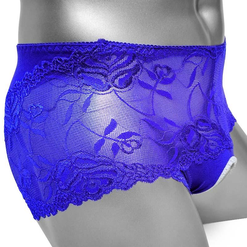 Crotchless Sissy Lace Boxer