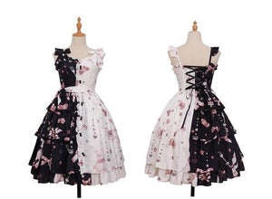 Bunny Lolita Dress Sissy Panty Shop Black White L