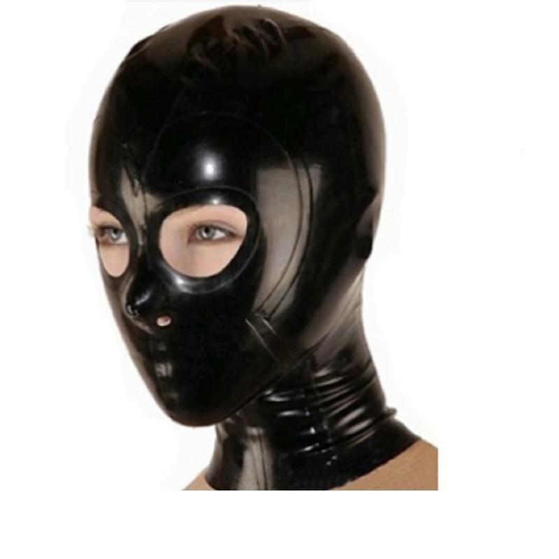 Latex Hood Sissy Panty Shop L black w zipper