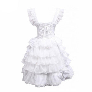 Bows & Ruffles Lolita Cotton Dress Sissy Panty Shop