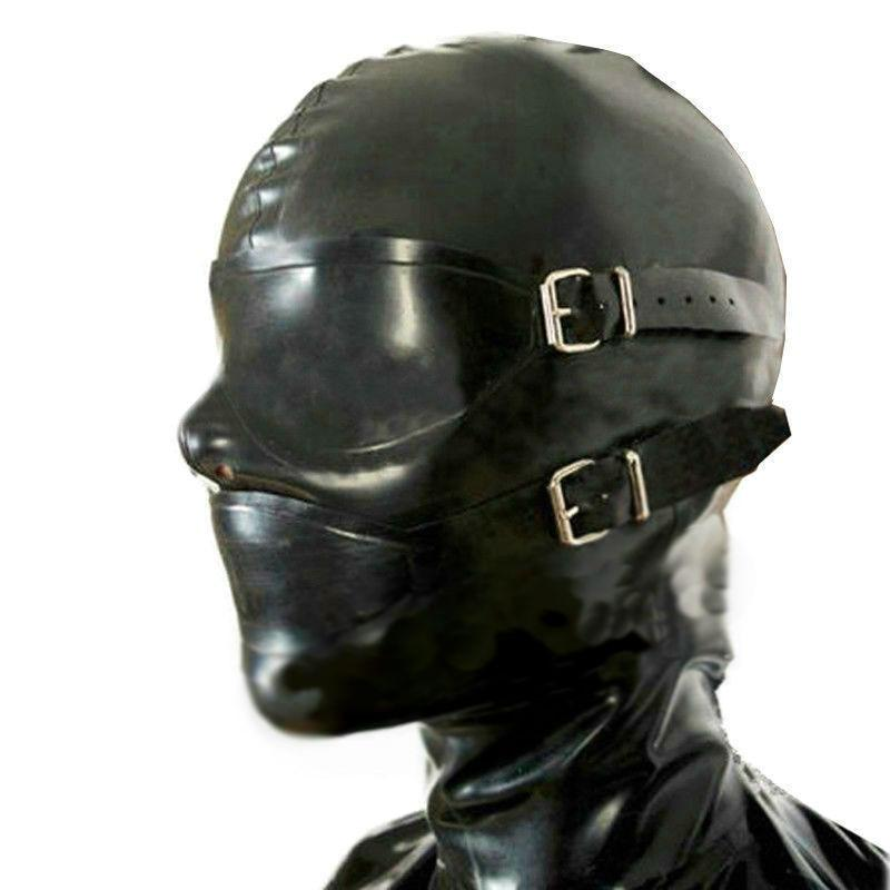 Latex Hood With Attached Mouth Plug Sissy Panty Shop