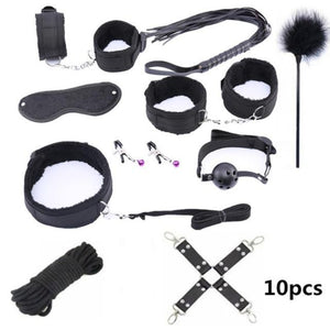 10 Pcs Bondage Set Sissy Panty Shop Nylon 10pcs-black