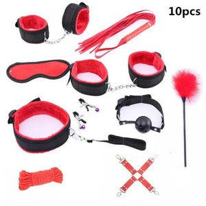 10 Pcs Bondage Set Sissy Panty Shop Nylon 10pcs-red