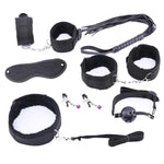 10 Pcs Bondage Set Sissy Panty Shop Nylon 7pcs-black