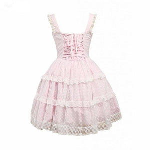 Light Pink Tulle Bow Lolita Dress Sissy Panty Shop