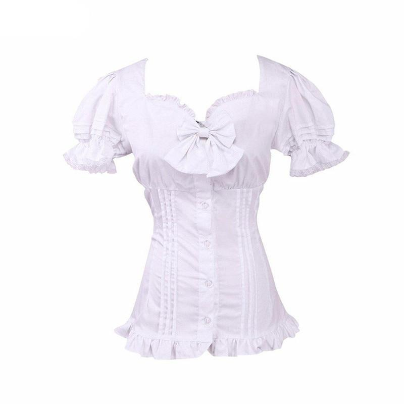 Puff Sleeve Lolita Lace Cotton Blouse