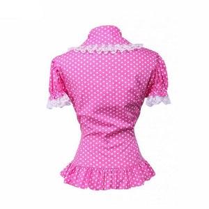 Polka Dot Cotton Lace Lolita Blouse Sissy Panty Shop