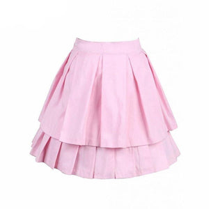 Cotton Pink Bow Pleated Lolita Skirt Sissy Panty Shop