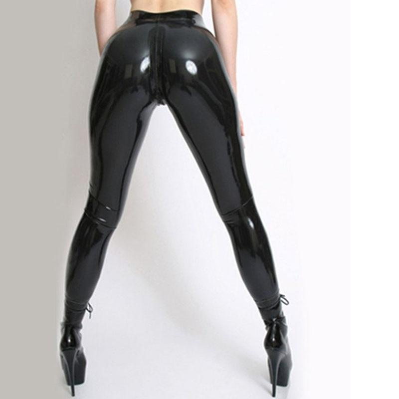 Latex Trousers With Socks And Crotch Zipper Sissy Panty Shop
