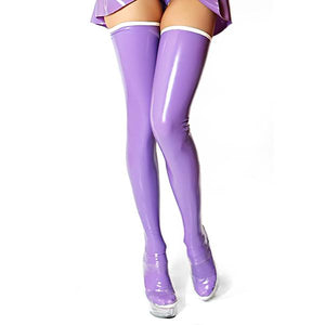 Purple Latex Stockings Sissy Panty Shop